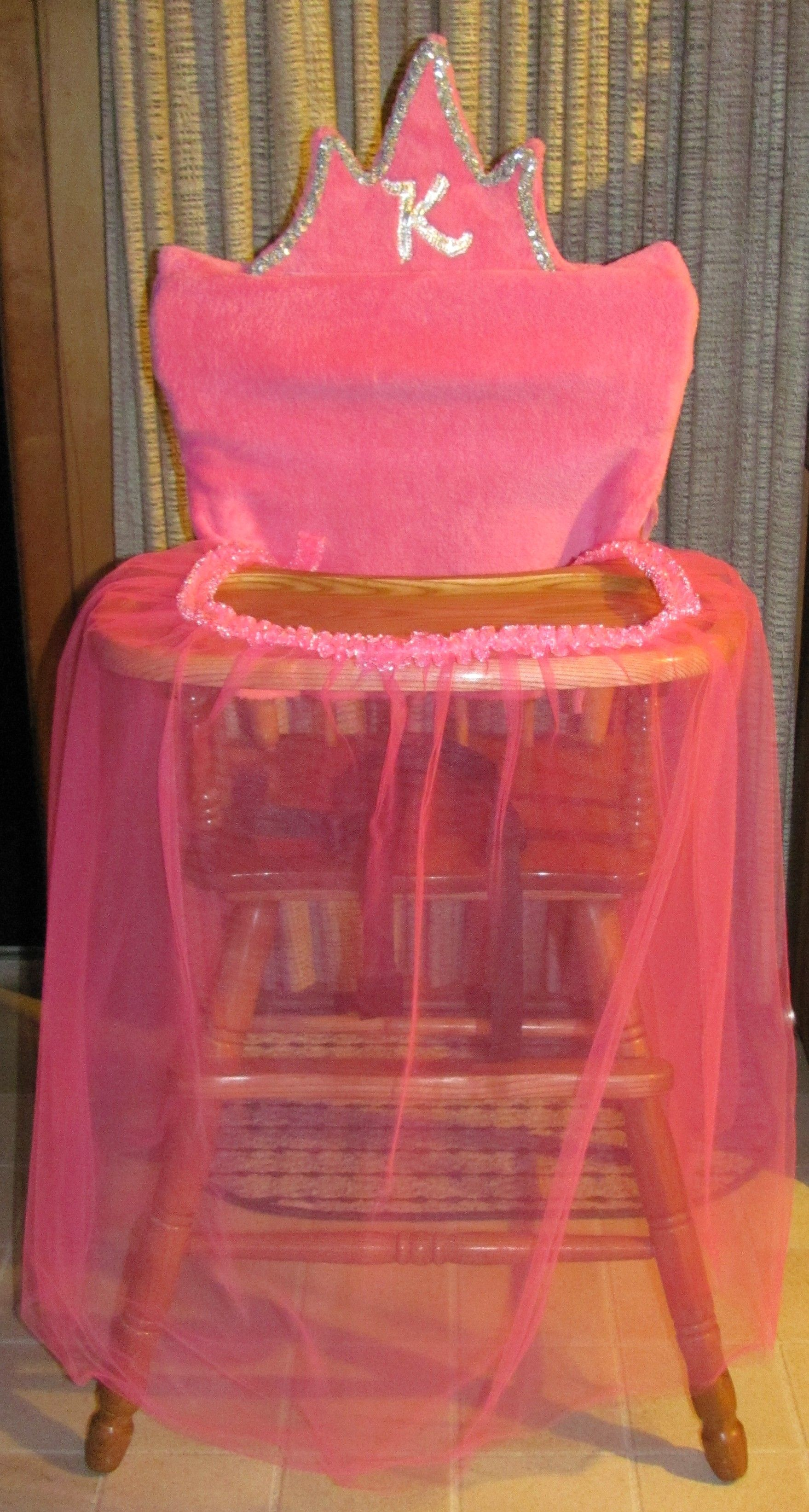 Princess throne chair - Every Princess Needs A Throne Here S A Great Idea For The High Chair She Uses