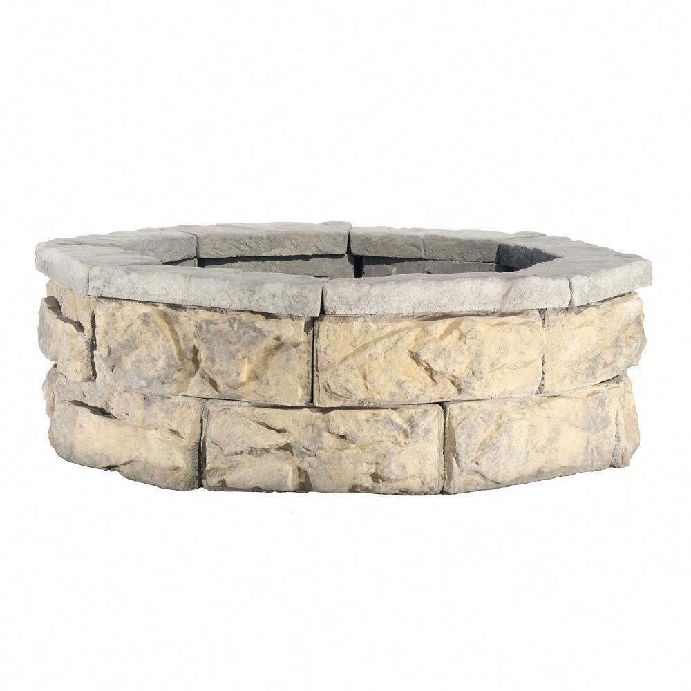 Null 30 In Fossill Limestone Fire Pit Kit Pergolametalroof