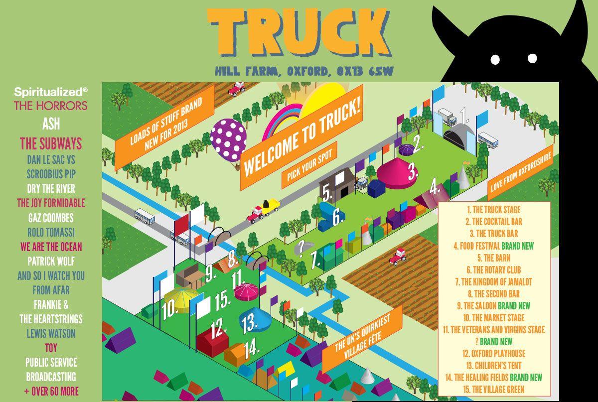 Map Of Uk Festivals.Truck Festival Map Gigs Concerts Live Truck Festival Trucks