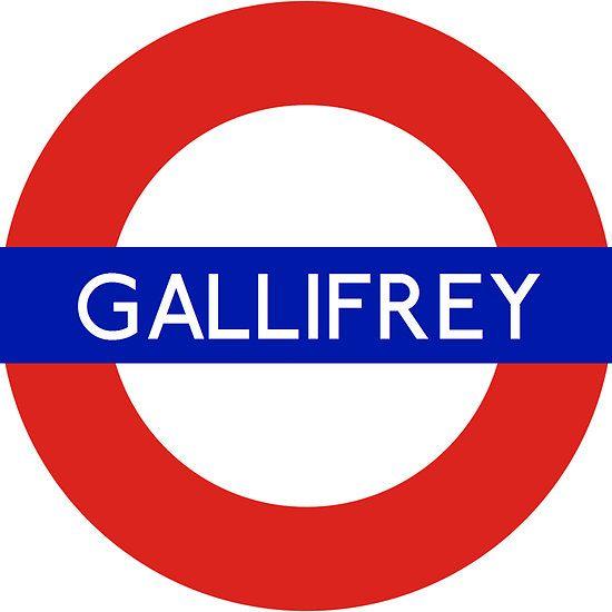 Doctor Who Gallifrey Tube Symbol Unisex T Shirt Doctor Who Dr