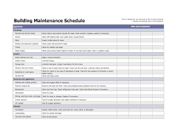 Image Result For Building Maintenance Schedule Excel Template