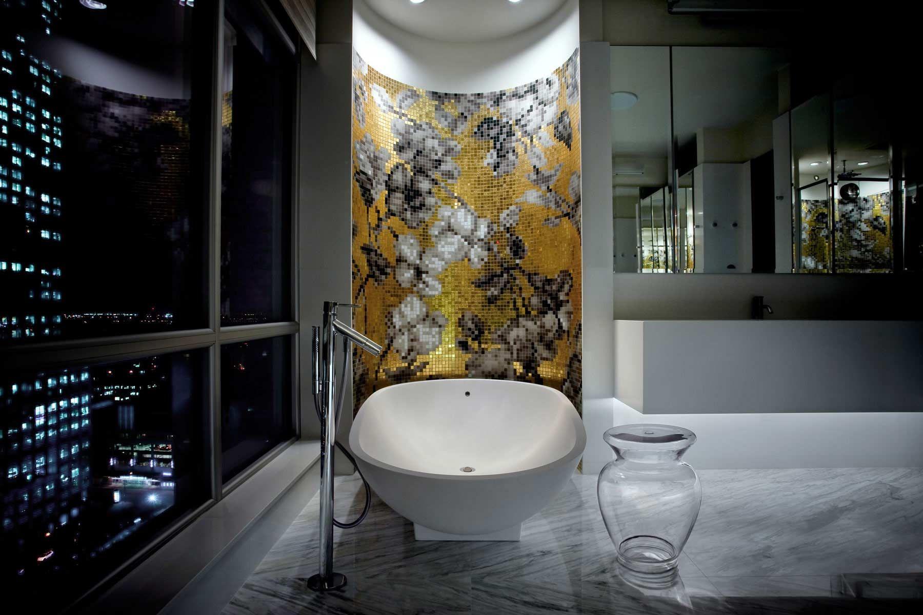Projet Penthouse Centre Vill Montreal Modern Bathroom Decor Luxury Penthouse Bathroom Design