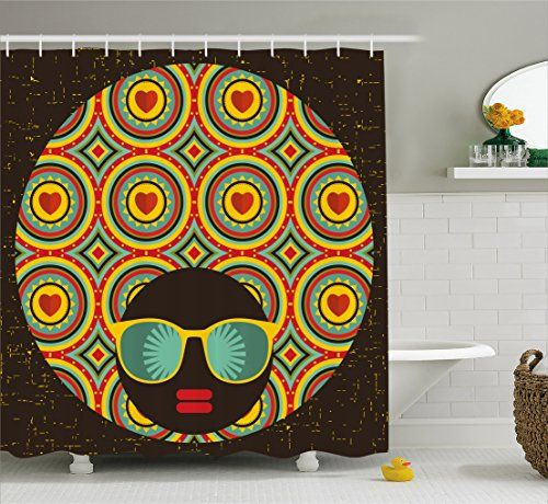 Modern Decor Shower Curtain By Ambesonne Afro Themed Wom
