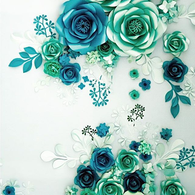 We cannot take our eyes off from this elegant and stunning paper we cannot take our eyes off from this elegant and stunning paper flower wall that combines the mixture of different types of leaves and flowers resulting mightylinksfo