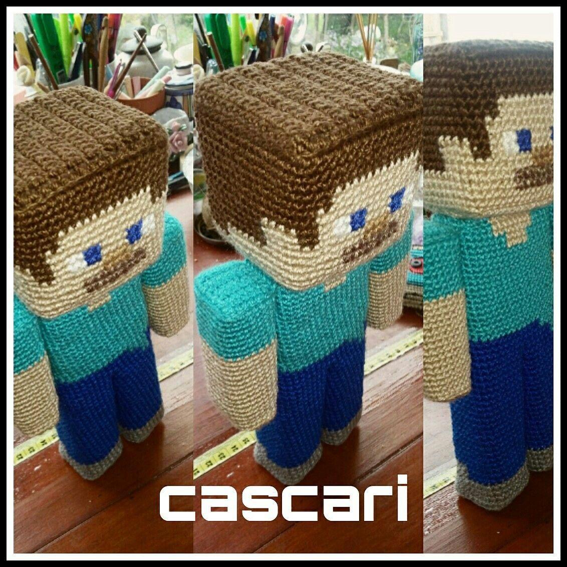 Steve Minecraft amigurumi. Patrón aridiya | Cascari Crochet ...