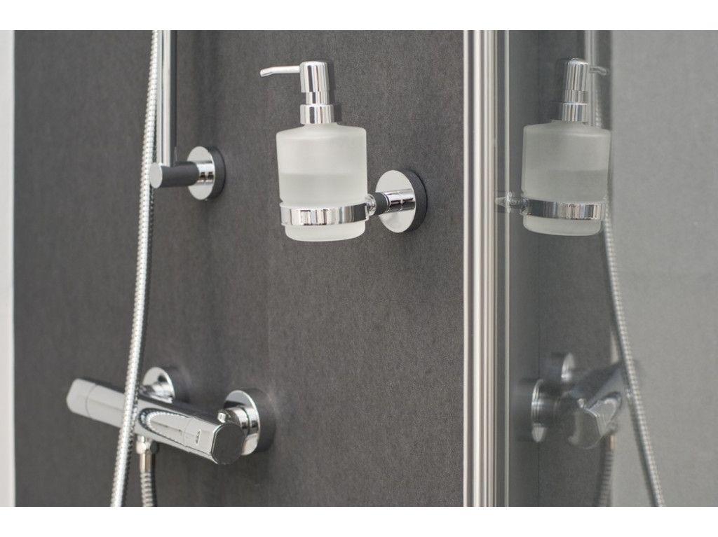 Zeepdispenser Douche Wand : Haceka kosmos zeepdispenser glas chroom accesoires accesoires