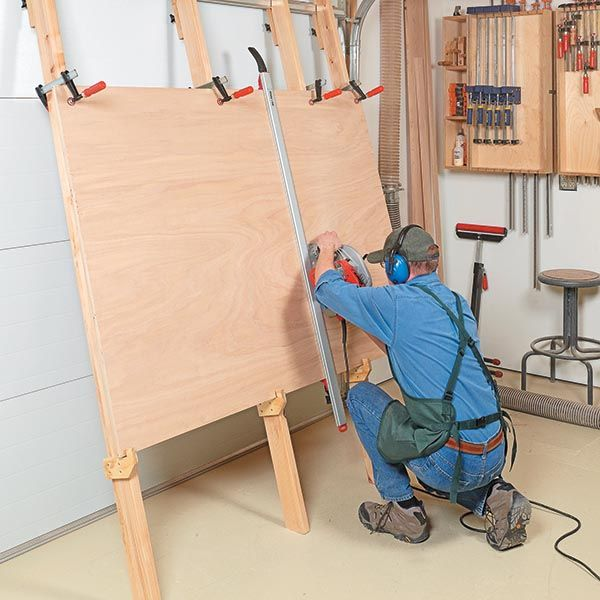 Plywood Garage Cabinet Plans: Woodsmith Tips - Cutting A Sheet Of