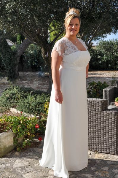 Robe mariage civil femme ronde