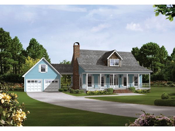 Auburn park country farmhouse house plans farmhouse for A frame house plans with attached garage