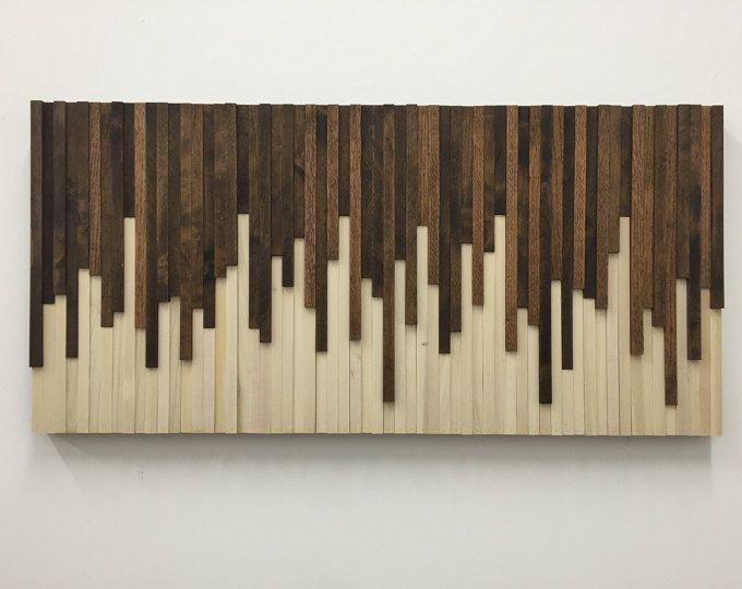 Instalación de pared de pared - madera de la pared arte - escultura