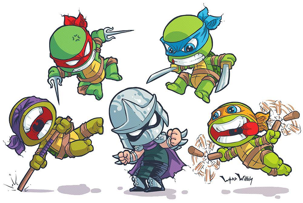 How to draw Cute ninja turtles, Leonardo - YouTube |Baby Ninja Turtles Drawings