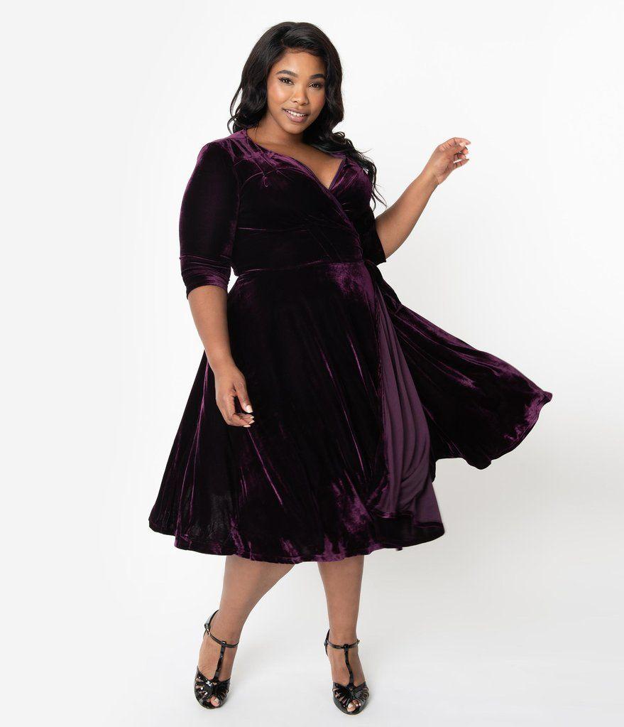 Park Art My WordPress Blog_Purple Velvet Dress Plus Size