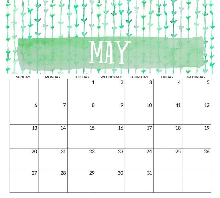 May 2018 Printable Template Calendar Calendar, 2018 calendar