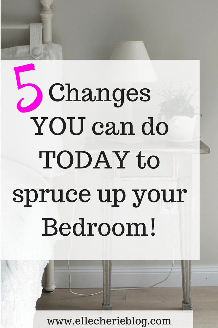 5 Things I did to Spruce up the Main Bedroom! images