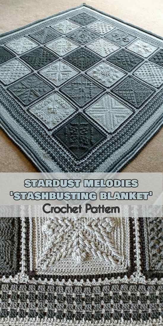 Stardust Melodies -'Stashbusting Blanket' [Crochet Pattern] #afghans