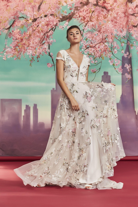 Amelia By Savin London Amsale Bridesmaid Dresses Floral Wedding Dress Alternative Wedding Dresses