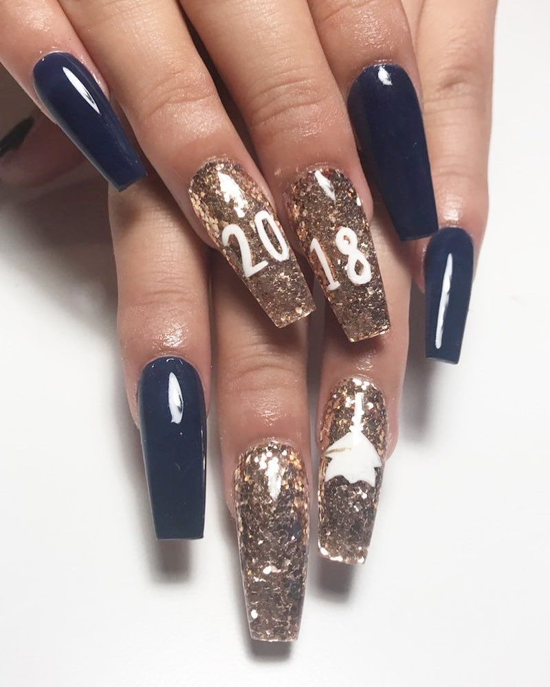 45 Awesome Graduation Party Nail Designs For Your Big Day Party Nails Party Nail Design Graduation Nails