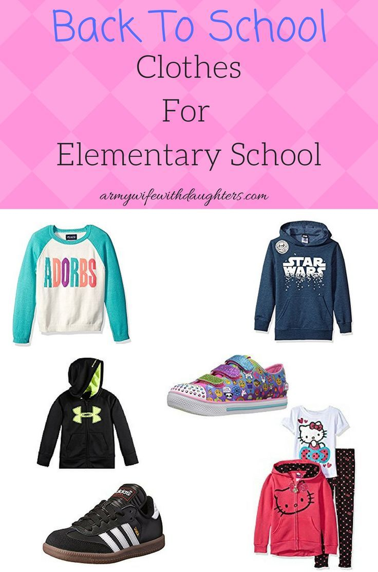 Back To School Clothes For Elementary School - Army Wife With