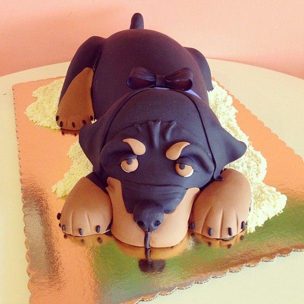 Rottweiler Dog Cake by 2tarts Bakery New Braunfels, TX www.2tarts ...