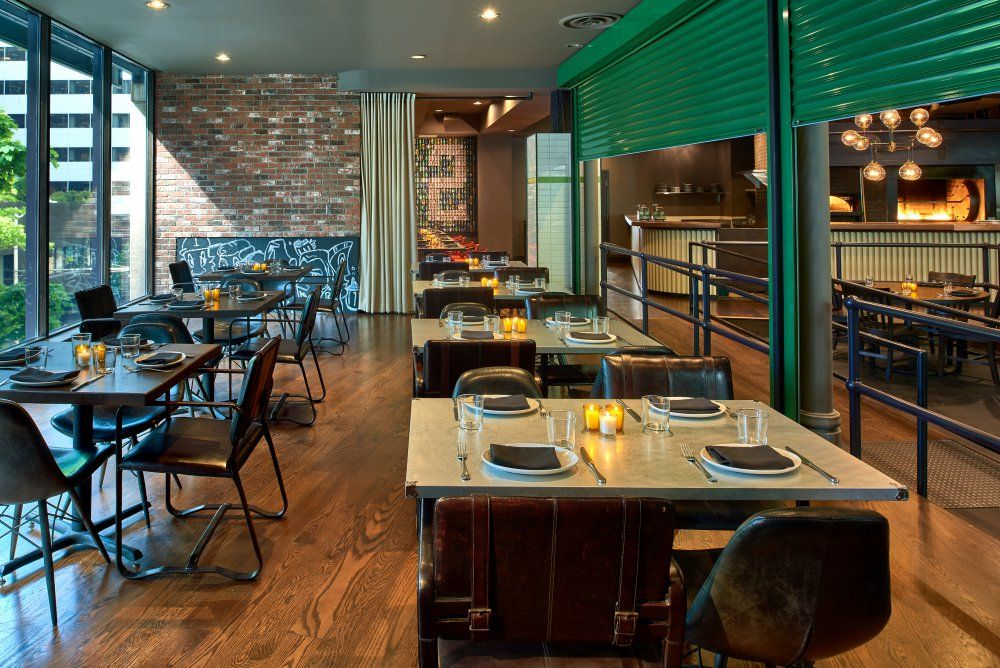Outlier Downtown Seattle Private Dining Behind The Huge Green