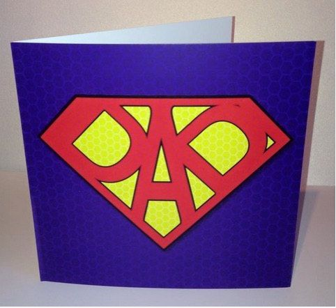 Super Dad Greetings Card Fathers Day Birthday Thank You Super Dad