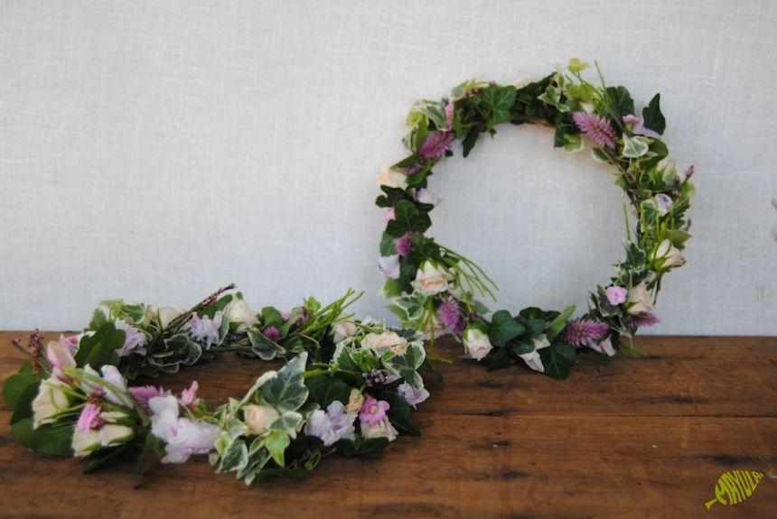 Coronas para niñas comunion flor natural  3a00baa22a3d