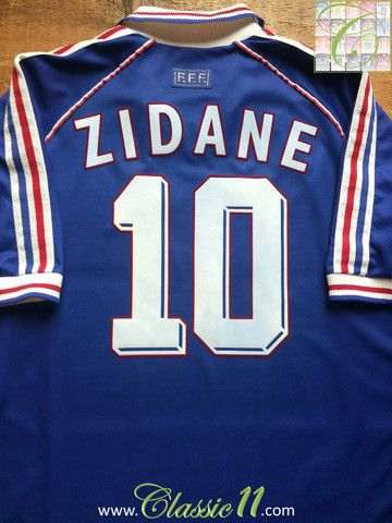 Relive Zinedine Zidane s 1998 World Cup with this vintage Adidas France  home football shirt. 18957027e