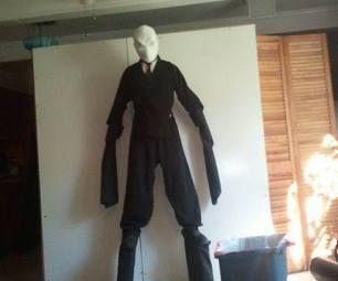 slender man costume on stilts - Halloween Costume Slender Man