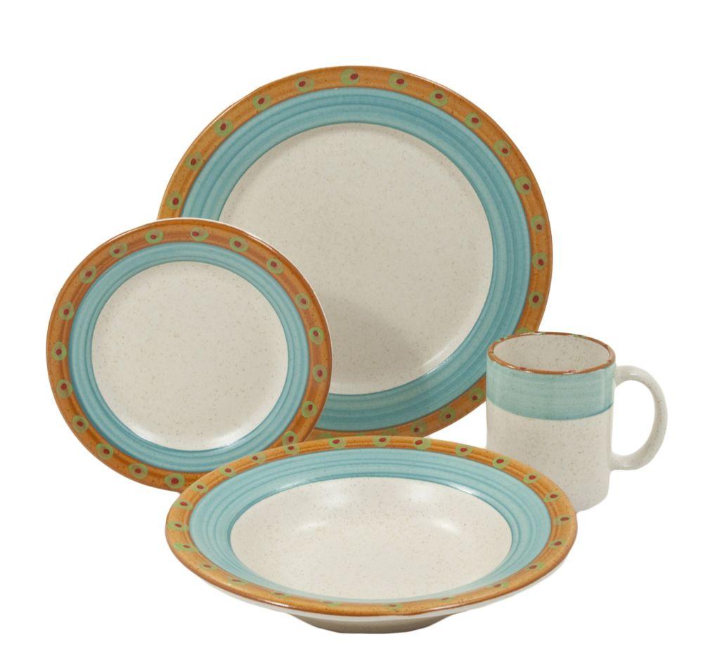 Made In Usa Sedona Sedona 16 Piece Dinnerware Set 4 Place