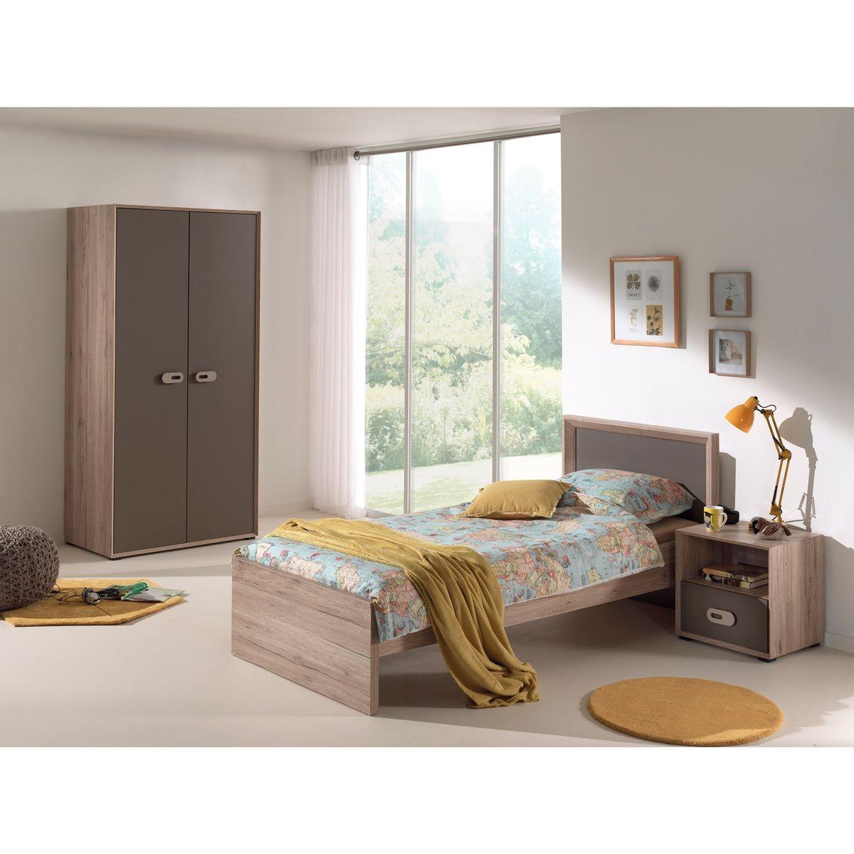 Chambre Enfant Imitation Chêne Cb2008 - Taille : 90x200 cm ...