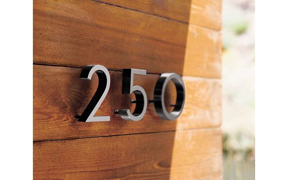 Neutra Modern House Numbers Design Within Reach In 2020 Neutra