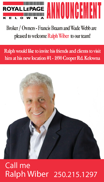 Royal LePage Kelowna: Welcome to the team Ralph