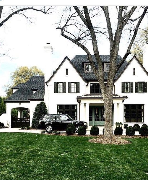 Tudor House Exterior Clic Black White Exteriors