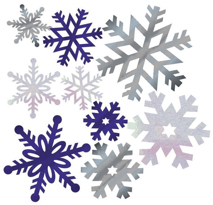 Foil Snowflakes Cutout Assortment - Party Depot