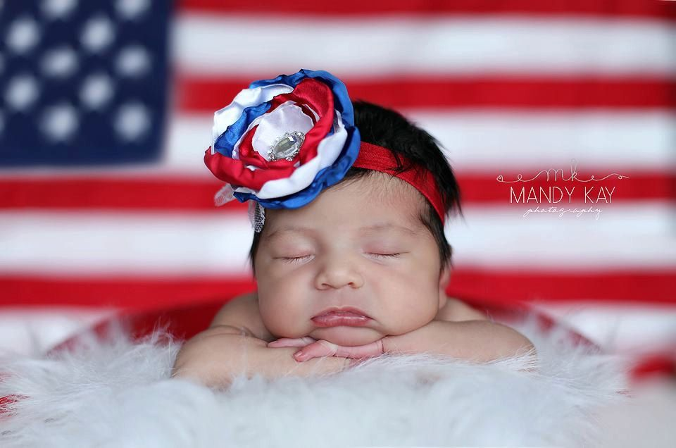 4th of july headband newborn headband baby girl