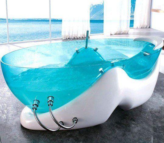 Blue Acrylic Bathtub Bathtub Design Glass Bathtub Contemporary
