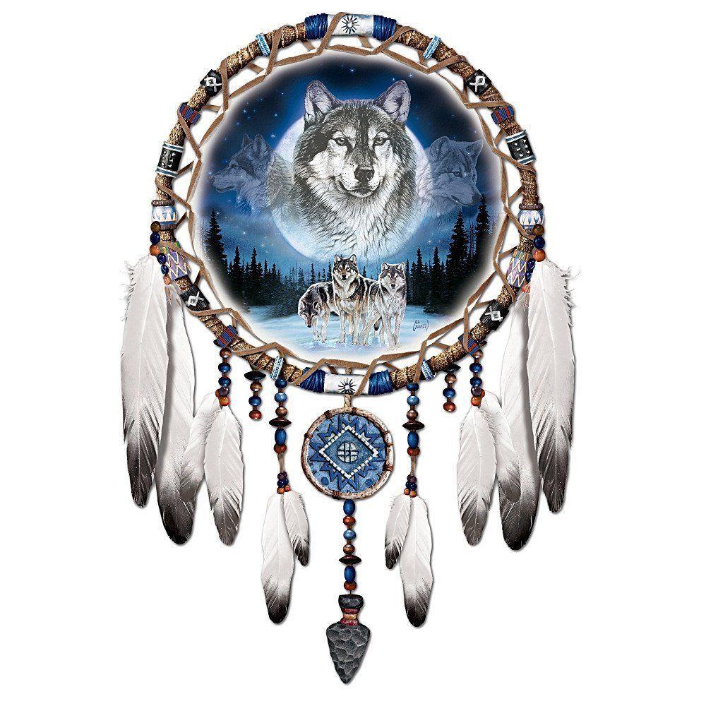 American Indian Dream Catchers For Sale Unique Native American Style Wolf Wolves Dream Catcher Wall Decor 36
