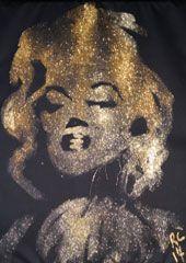 Marilyn Monroe Glitter Speed Painting & Artwork | Glitter Painter | Robert Channing