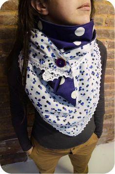 e1615946f3e3 Foulard triangle   foulard et tour de cou   Pinterest   Sewing, Diy ...