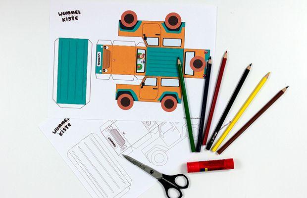 material auto aus papier basteln basteln pinterest papier basteln spielerisches lernen. Black Bedroom Furniture Sets. Home Design Ideas
