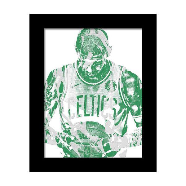 0c052b2e5e2 Kyrie Irving Boston Celtics Pixel Art 5 Framed Print by Joe Hamilton ...