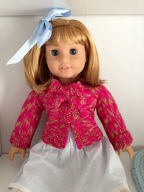 Ravelry: Miniature Gilet Noeud Noeud for American Girl Doll pattern ...