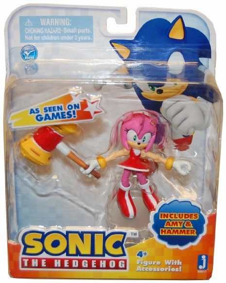Amazon Com Sonic 3 Action Figure With Accessories Set Amy Hammer Toys Games Action Figures Sonic Frozen Toys