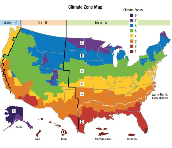 Climate Zone Maps Google Search Pinterest: Map Of Us By Climate At Usa Maps