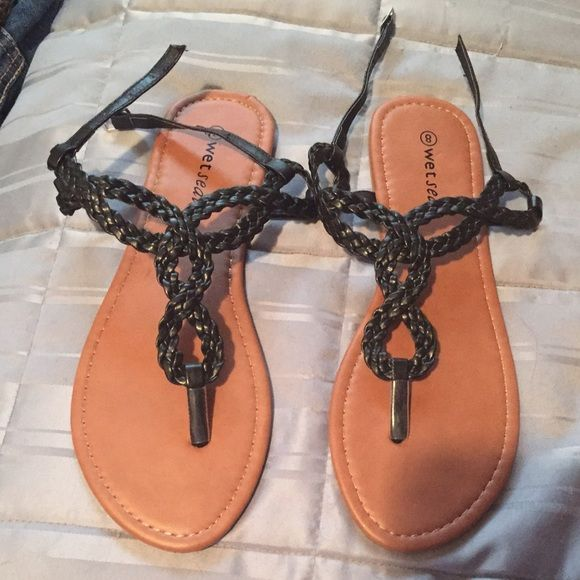 Wet Seal Sandals Brand new ☺️ Wet Seal Shoes Sandals
