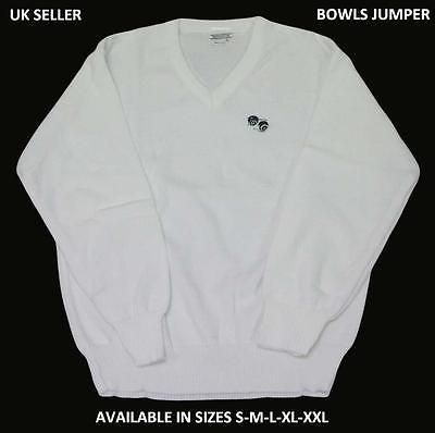 Bowls lawn #bowling white #jumper #bowling #jumper new #size!!! s-m-l,  View more on the LINK: http://www.zeppy.io/product/gb/2/140923526824/