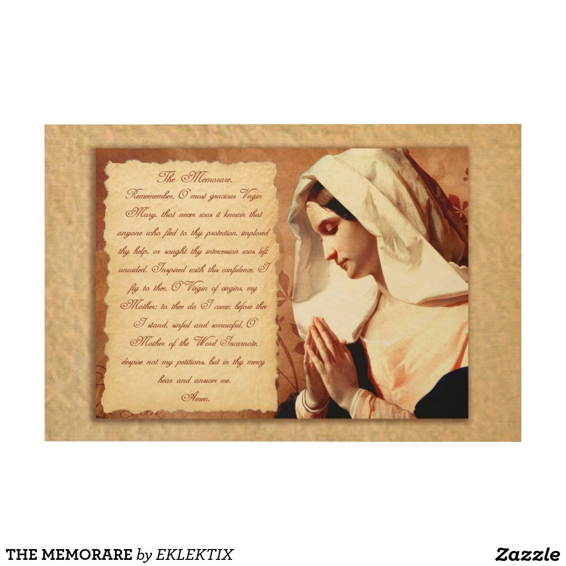 The memorare wood wall art   Wood wall art, Wood walls and Blessed ...