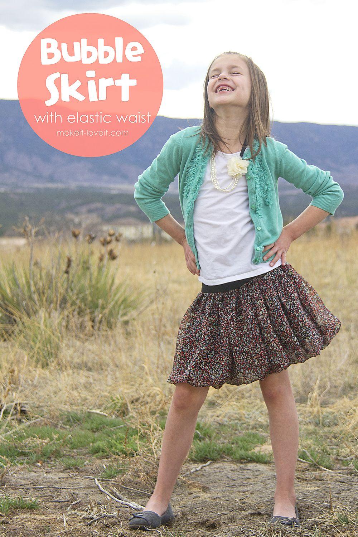 Make a Flouncy Bubble Skirt...with an elastic waist | Ballonrock ...