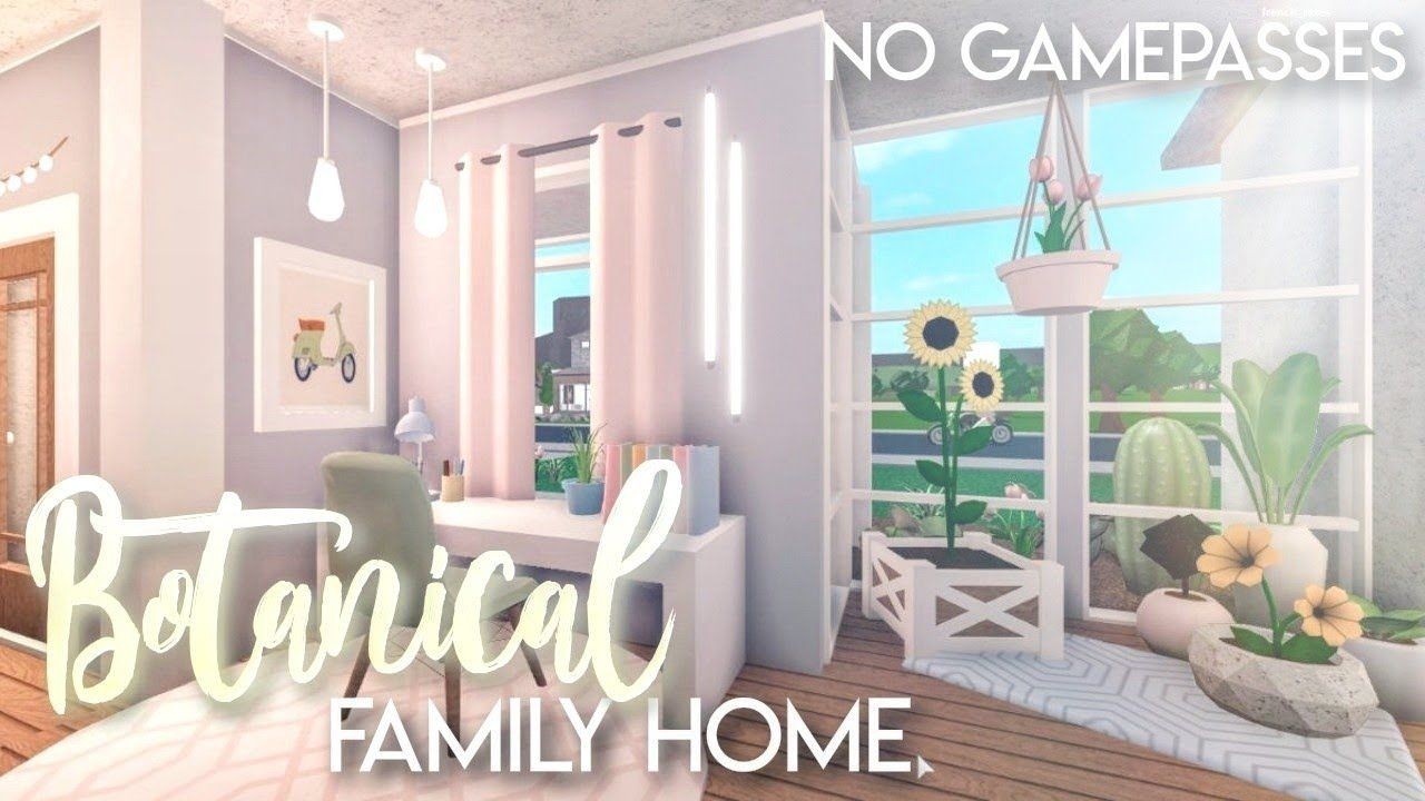 Bloxburg Botanical Family Home No Gamepasses House Build Youtube In 2020 Tiny House Layout Unique House Design Two Story House Design
