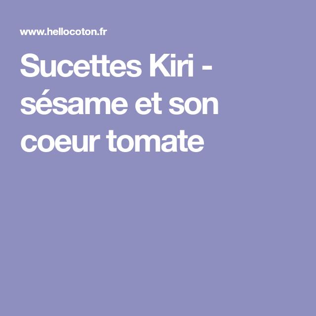 Sucettes Kiri - sésame et son coeur tomate